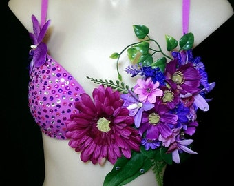 Pink forest fairy Bra