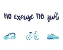 No Excuse No Quit, Printable Wall Art, Digital Art, Downloadable Art, Watercolor