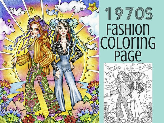 seventies fashion coloring pages - photo#30