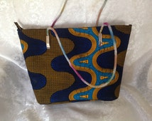 African fabric tote, Ankara Fabric Bag, Mother's Day Gifts, Ankara fabric Purse,African Fabric Accessories, Fabric African Clothing