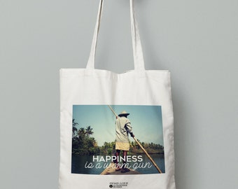 """Tote bag """"Happiness is a warm gun"""""""