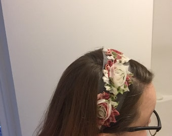 Floral headband- one size fits most