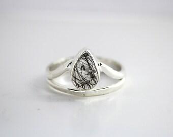 Tear Drop Sterling Silver Ring