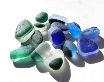 Small Blues and Greens Sea Glass Multis