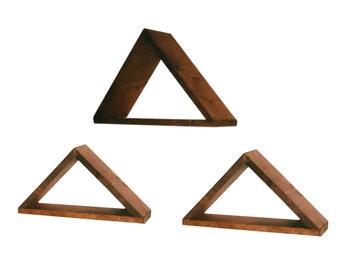 Triangular Wooden Shelves