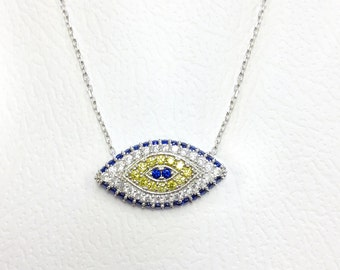 Lucky eye Silver Necklace