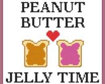 Peanut Butter Cross Stitch Pattern
