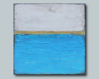 Original Sea painting Nautical wall decor seascape Abstract painting