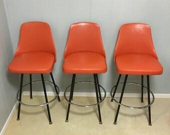 Mid century Cosco bar stools set of three