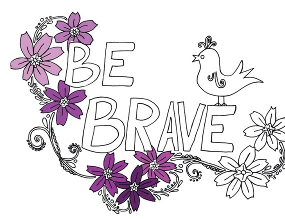 Be Brave Printable Affirmation Coloring Page