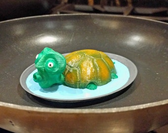 Turtle Soup (#1): Hand painted 3D print