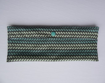 Carry bag brush teeth/toothpaste, utensils or sandwich wrap - Turquoise and gray-green - reusable - Zero waste