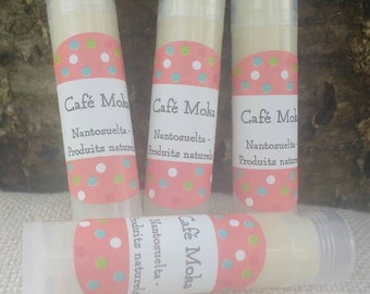 Lip balm at the Café Mocha - made in Quebec