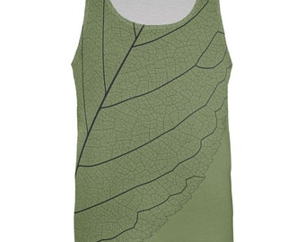 Leaf Veins All Over Adult Tank Top