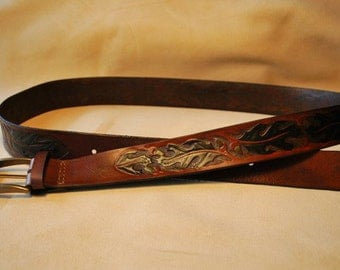 Oak leather belt