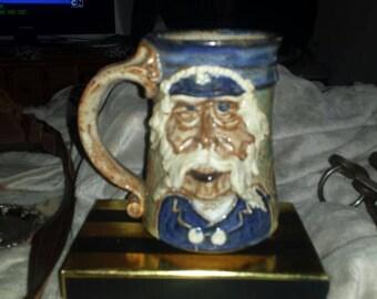 Old handmade captains coffee mug