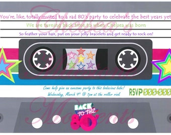 80's Cassette Tape Invitation