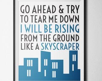 """Printable Quote """"Skyscraper"""" by Demi Lovato   Digital Download"""