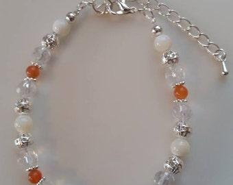 Menopause Bracelet, Gemstone Bracelet, Crystal Healing, Crystal Therapy, Healing Energy, Handmade, Blend, Reiki, Gift For Her, Gift For Mum