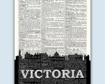 Victoria Skyline, Victoria Poster, Victoria Decor, Victoria Print, Victoria Wall Art, Victoria  Gift, Victoria Wall Decor, Victoria Canada
