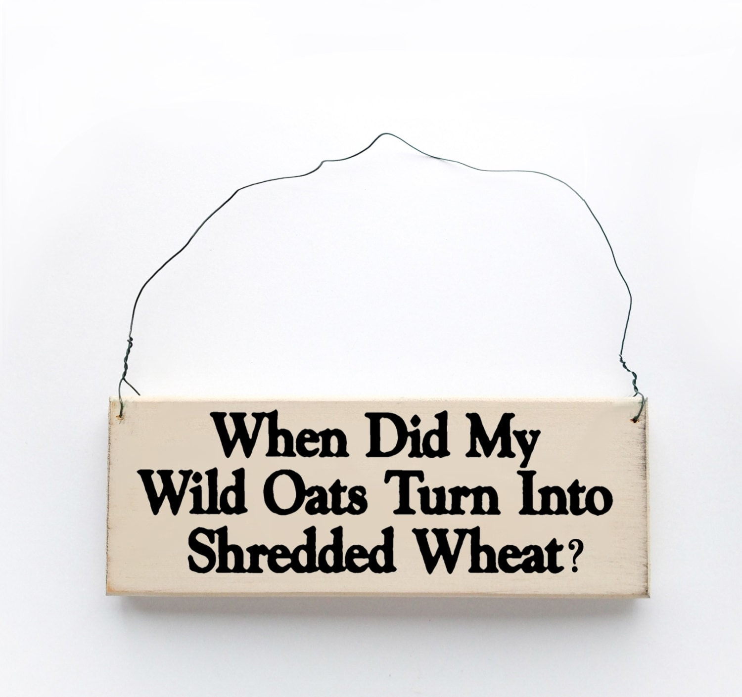 Wood Sign Saying When Did My Wild Oats Turn Into Shredded