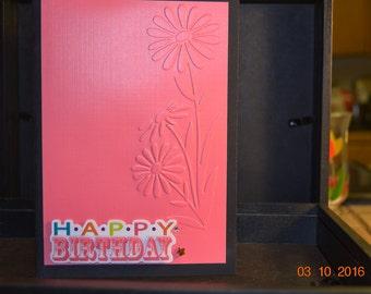 Happy Birthday Embossed card