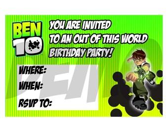 Ben 10 Birthday Invitation