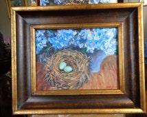 Bird Nest With Hydrangeas