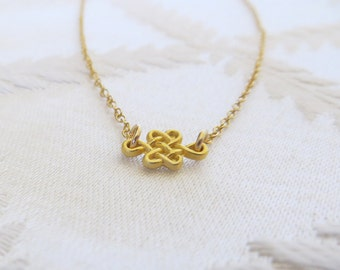 "Gold Filled Necklace with Celtic Charm, 16"", GN-123"