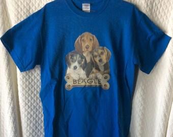 Blue Beagle Puppy Shirt