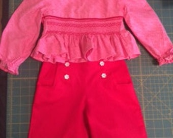 Smocked Top and Sailor Pants;