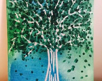 Silver Tree - Original Acrylic Painting