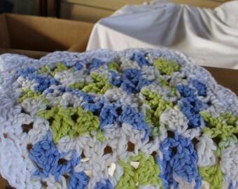 Blue an Green Dish Cloth