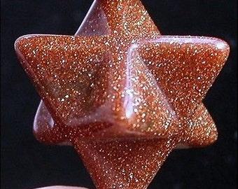Beautiful Goldstone merkaba