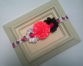 Pink Ladybug - Infant/Toddler Headband