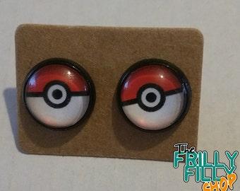Pokemon earrings cabochon