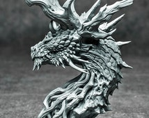 Forest Dragon bust (grey resin kit)
