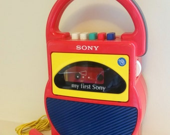 Vintage My First Sony Cassette Tape Player and Recorder