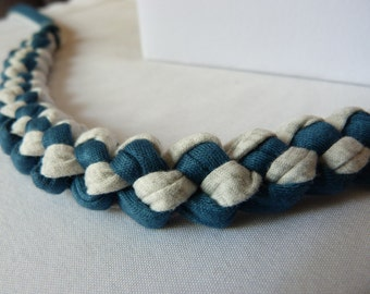Braided Nursing Necklace, Up cycled T-shirt Yarn Teething Necklace, Baby Shower Gift