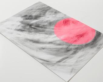 circle pink, print, grey, pink, abstract, wall art