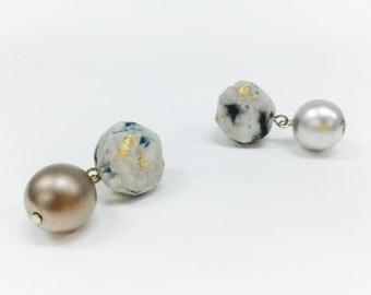 Paper-gemstone earring [Birthmonth_January]