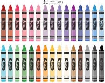 Crayon Clipart, Crayon Clip Art, Digital Crayons, Colorful Crayons, Rainbow Crayons Clipart