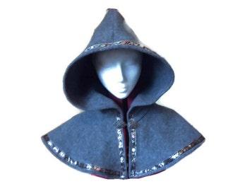 Grey woolen hood