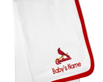 Personalized St. Louis Cardinals Baby Blanket