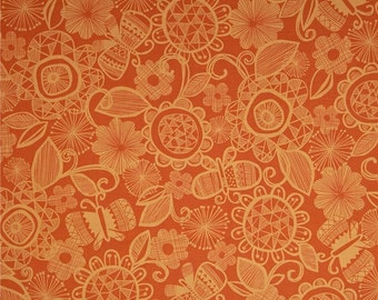 "FreeSpirit  ""Highline""  Chelsea Tomato Color  Cotton Fabric  by Erin McMorris"