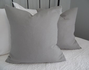 Grey Linen pillow cover. Grey and white pillow cover. LINEN.