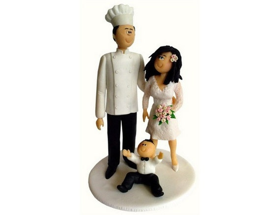 chef groom wedding cake topper wedding cake topper handmade personalized amp groom cook 12632