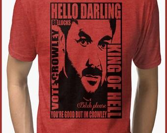 Supernatural  Crowley  Tri-blend T-Shirt