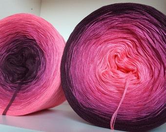 Designer yarn gradient flower! 260 GR! Knitting Crochet handmade lace yarn