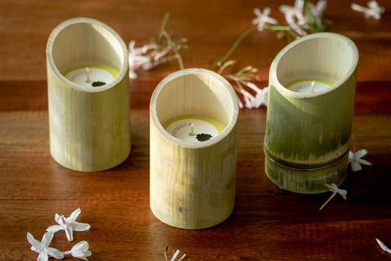 Bamboo Soy Candles - Set of 3